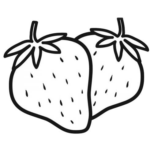 Dessin 2 Fraises Gabarits Fruits Galerie Nafeuse Magazine